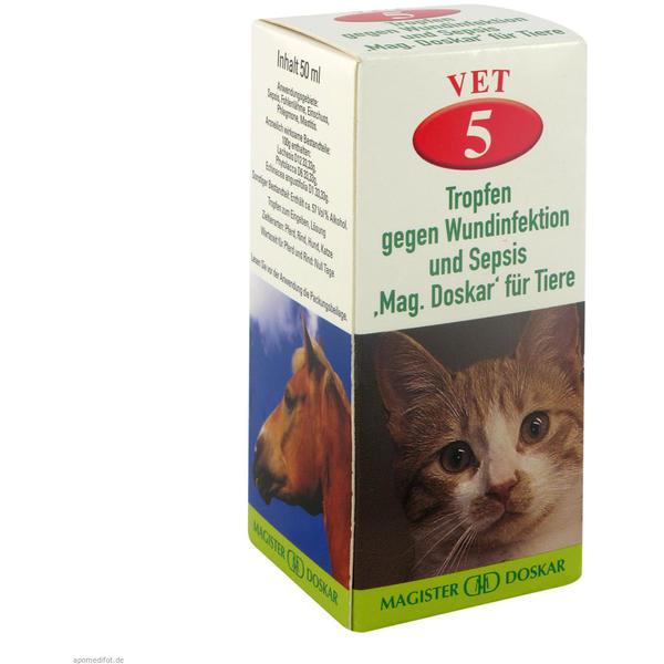 Mag. Doskar für Tiere VET Nr. 5 Gegen Wundinfektion und Sepsis 50 ml