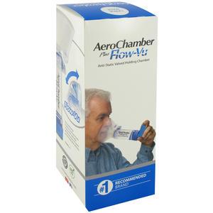 Inhalation AeroChamber Maske Erwachsene + Flo 1 Stk.