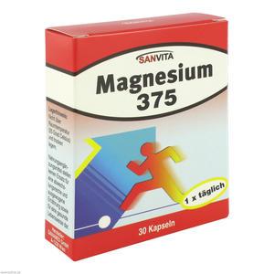 Sanvita Magnesium 375 Kapseln 30 Stk.
