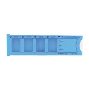 Medikament Dispenser 4-teilig blau 1 Stk.