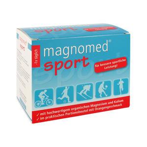 Magnomed Magnesium-Kalzium Sport Pulver Orange 7g 24 Stk.