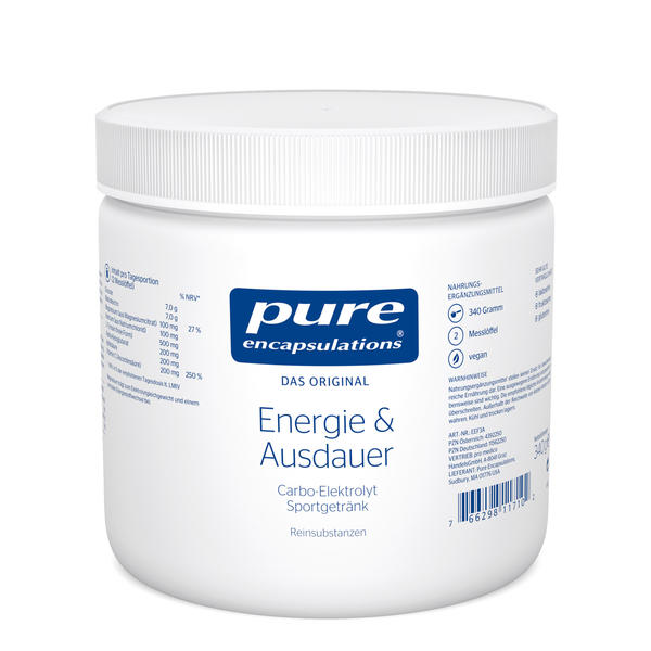 Pure Encapsulations Kapseln Energie & Ausdauer 340 g
