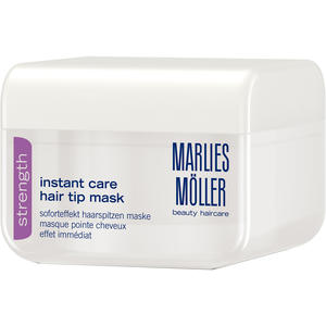 Marlies Möller Strength Instant Care Hair Tip Mask, 125 ml (+GRATIS Micelle Pre-Shampoo Reisegröße)