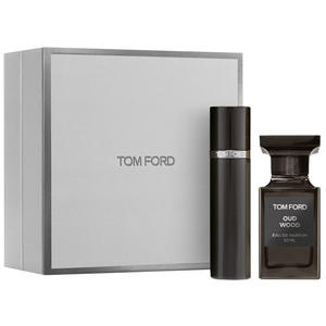 Tom Ford Oud Wood SET (Oud Wood Eau de Parfum 50ml + Refillable Atomizer 10ml), 1 Set