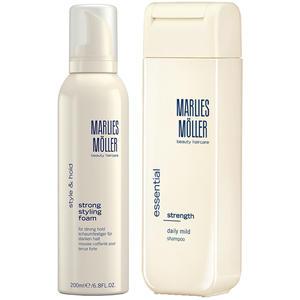 Marlies Möller Strength Daily Mild Set (Daily Mild Shampoo 200 ml + Strong Styling Foam 200 ml), 200 ml