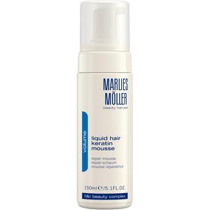 Marlies Möller Volume Liquid Hair Keratin Mousse, 150 ml (+GRATIS Boost Styling Spray 30 ml)