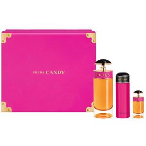 Prada Candy SET (Eau de Parfum 80ml + Eau de Parfum Miniatur 7ml + Bodylotion 75ml), 1 Set