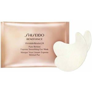 Shiseido Benefiance WrinkleResist24 Pure Retinol Express Smoothing Eye Mask, 12 Stk.