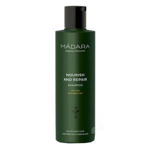 Mádara Haarpflege Nourish and Repair Shampoo, 250 ml (+GRATIS Gesichtsmaske Reisegröße)