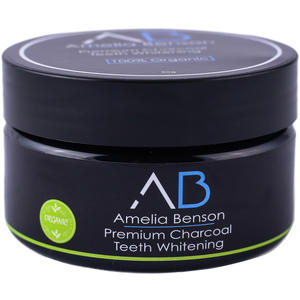 Amelia Benson Premium Charcoal Teeth Whitening, 30 g