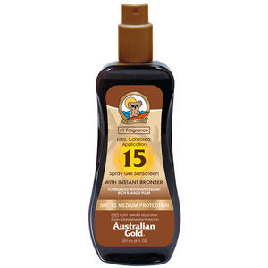 Australian Gold Sun Spray Gel Instant Bronzer SPF 15, 237 ml