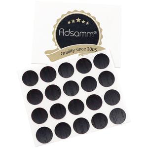20 x Abdeckkappen | Ø 13 mm | Wenge | rund | 0,45 mm dünne selbstklebende Möbelpflaster von Adsamm®