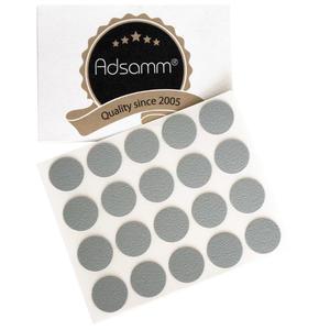 20 x Abdeckkappen | Ø 13 mm | Grau hell | rund | 0,45 mm dünne selbstklebende Möbelpflaster von Adsamm®