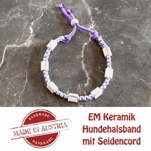 Zeckenschutz & Ungeziffer ~ Halsband mit EM-Keramik ~ Umfang 22 cm bis 32 cm - VIOLET - stufenlos verstellbar