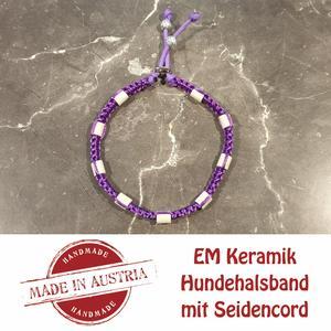 Zeckenschutz & Ungeziffer ~ Halsband mit EM-Keramik ~ Umfang 40 cm bis 50 cm - LILA - stufenlos verstellbar