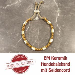 Zeckenschutz & Ungeziffer ~ Halsband mit EM-Keramik ~ Umfang 35 cm bis 45 cm - GOLD - stufenlos verstellbar