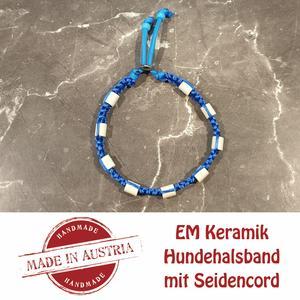 Zeckenschutz & Ungeziffer ~ Halsband mit EM-Keramik ~ Umfang 40 cm bis 50 cm - DUNKELBLAU - stufenlos verstellbar