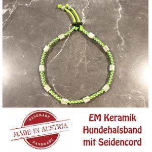 Zeckenschutz & Ungeziffer ~ Halsband mit EM-Keramik ~ Umfang 35 cm bis 45 cm - GRÜN - stufenlos verstellbar