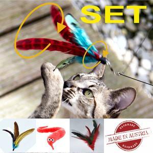 """SET - Flattara - Angel """"GROSS"""" - mit 3 Anhängern, ausziehbar von 1 m auf 2 m, Das Linzer Original """"MADE IN AUSTRIA"""" by Selectcats"""