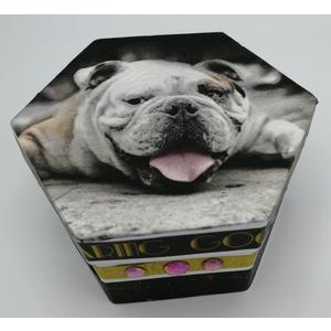 Box - Aufbewahrungs- / Geschenkbox 12 x 6 cm aus Karton - EINZELSTÜCK - Handgestaltet - Made in Austria