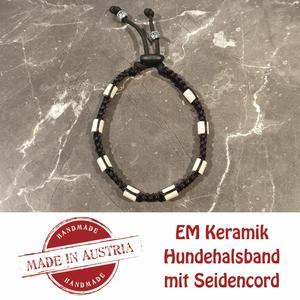 Zeckenschutz & Ungeziffer ~ Halsband mit EM-Keramik ~ Umfang 35 cm bis 45 cm - SCHWARZ - stufenlos verstellbar