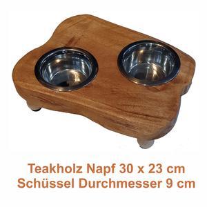 Futternapf - handgemachtes Einzelstück aus Teakholz
