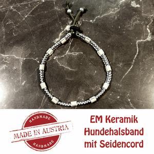 Zeckenschutz & Ungeziffer ~ Halsband mit EM-Keramik ~ Umfang 22 cm bis 32 cm - GRAU - stufenlos verstellbar