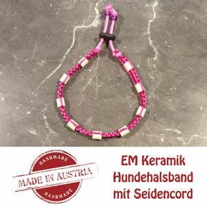 Zeckenschutz & Ungeziffer ~ Halsband mit EM-Keramik ~ Umfang 22 cm bis 32 cm - PINK - stufenlos verstellbar