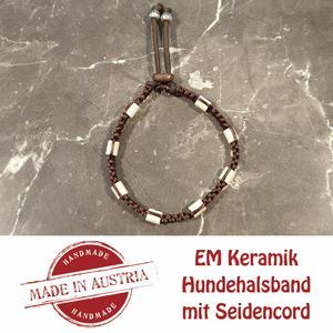 Zeckenschutz & Ungeziffer ~ Halsband mit EM-Keramik ~ Umfang 40 cm bis 50 cm - BRAUN - stufenlos verstellbar