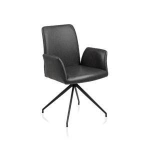 Sessel 7206 A Lederlook Retro Schwarz