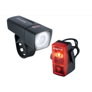 """SIGMA SPORT Batterie-LED-Leuchtenset """"Aura 25/Cubic"""" SB-verpackt, mit deutschem Prüfzeichen, 25Lux Bestehend aus"""