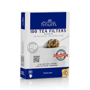 Finum aromatreu M, weiß, 100 Teefilter