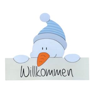 """Willkommensschild """"Schneemann"""""""