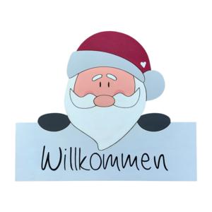 """Willkommensschild """"Weihnachtsmann"""""""