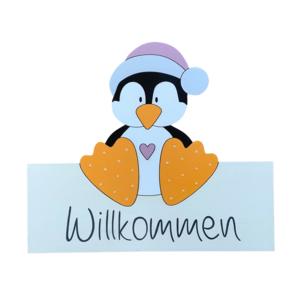 """Willkommensschild """"Pinguin"""""""