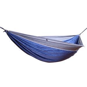 Hideaway Camper Reisehängematte blau mit grauem Rand inklusive Befestigungsmaterial