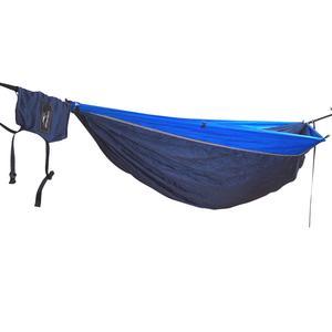 Hideaway Camper Reisehängematte dunkelblau-hellblau inklusive Befestigungsmaterial