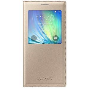 Samsung EF-CA700BFE S-View WakeUp Cover Hülle Galaxy A7 Gold