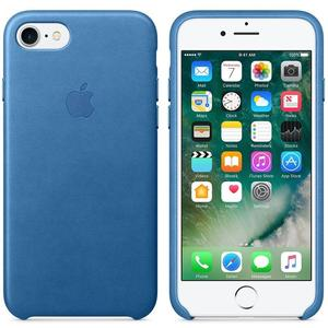 Apple MMY32ZM/A echt Leder Cover für iPhone 7/8 in Sea Blue