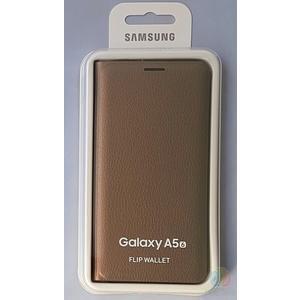 Samsung Flip Wallet Cover Hülle EF-WA510PFE Gold - Samsung Galaxy A5 2016