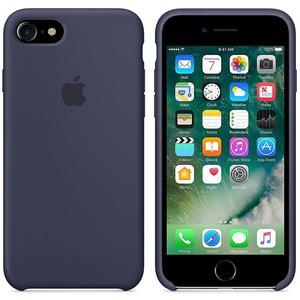 Originalverpackung Apple Silikon Mikrofaser Cover Hülle für iPhone 8 / 7 - Mitternachtblau