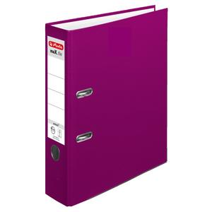 herlitz Ordner maX.file protect A4 80mm brombeere