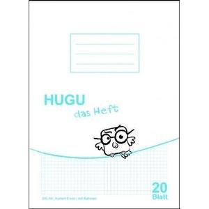 HUGU Schulheft A4 Kariert 5mm mit Rahmen - 20 Blatt