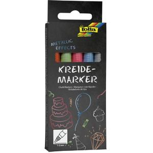 "folia Kreidemarker ""Metallic Effects"", 5er Set"