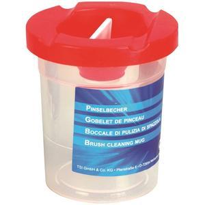 TSI Wasserbecher mit Auslaufschutz- rot