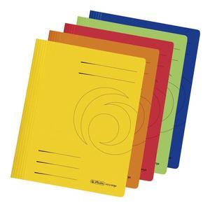 herlitz Schnellhefter easyorga, DIN A4, Recycling-Manilakarton, intensiv Farben 10er Pack