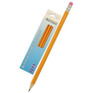 Spar-Set Bleistift 12er Packung HB mit Radierer