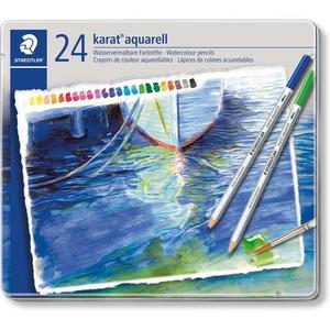 STAEDTLER karat 125 Aquarellstift, 24er Metalletui