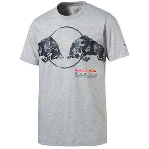 PUMA Red Bull Racing Graphic Tee Light Gray Heather M
