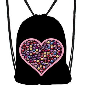 """Turnbeutel Hipster """"Smiley Hearts"""" 33 x 44 cm"""